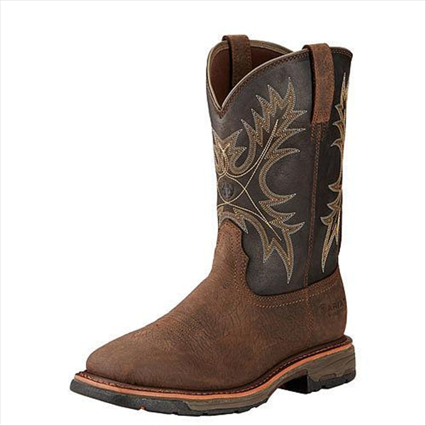 10017436 10017436 Ariat Men's Workhog H2O Waterproof Western Work Boot Bruin Brown Coffee