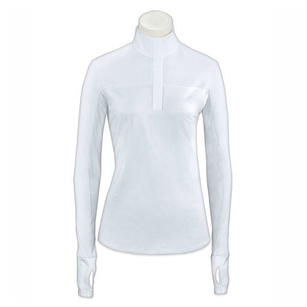 SPH672 RJ Classics Ladies Sophie Long Sleeve Hunt Show Shirt - White