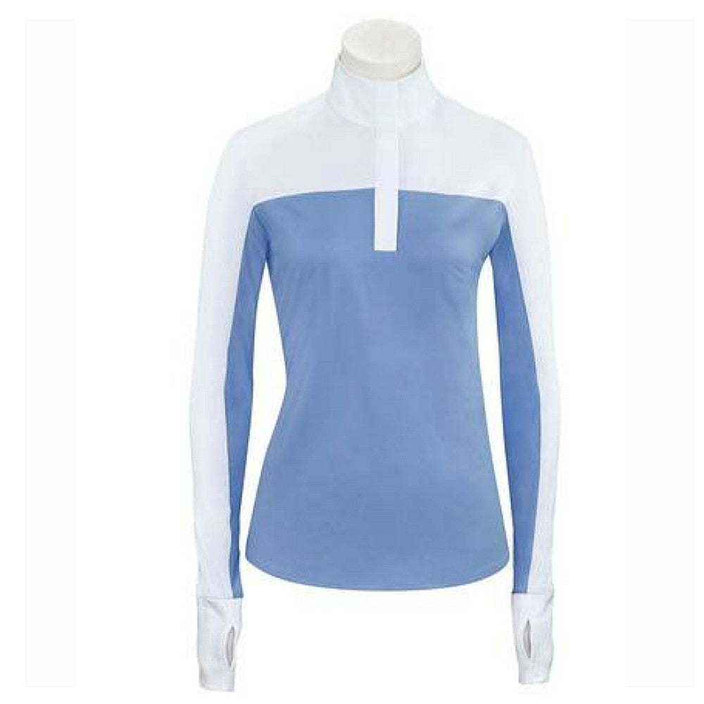 SPH673  RJ Classics Ladies Sophie Long Sleeve Hunt Show Shirt - White/ Shadow Blue