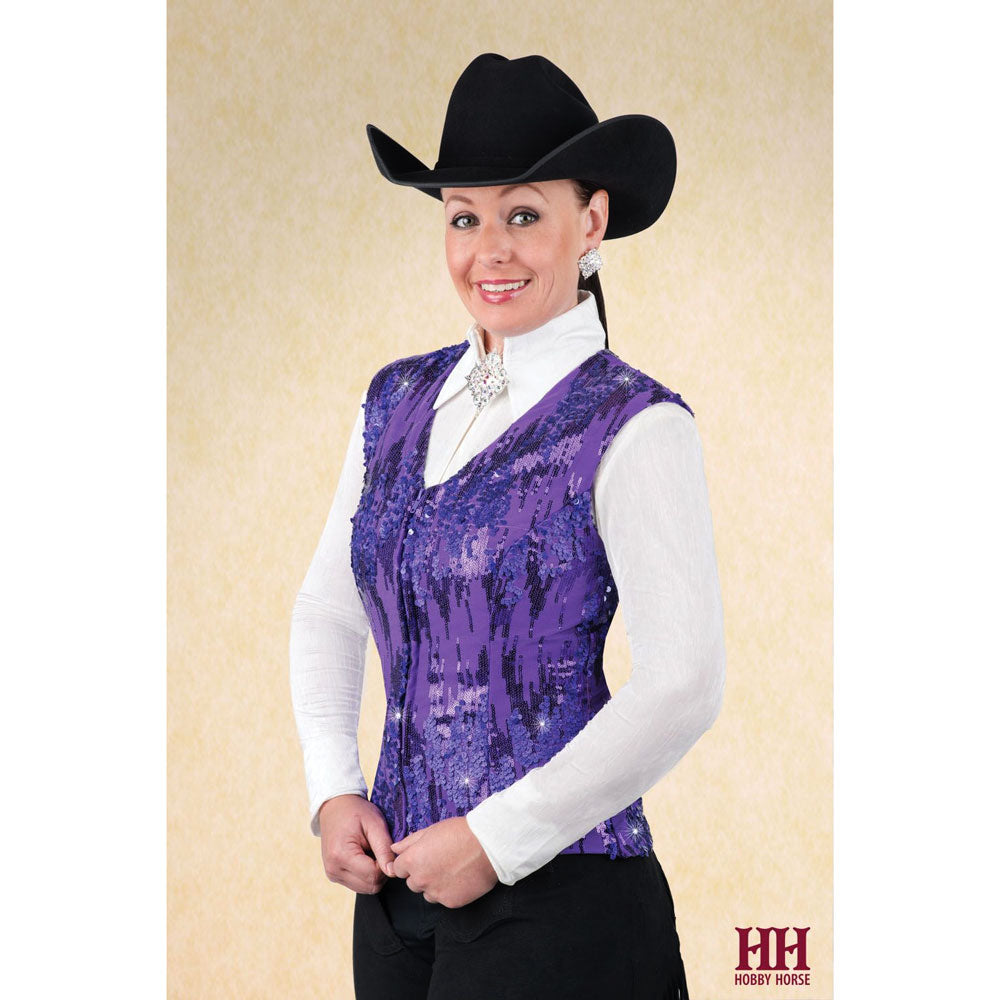 2702-010 Hobby Horse Ladies Icicle Horse Show Vest - Purple