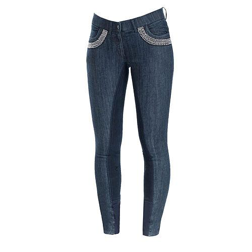 36213 Horze Crescendo Petrina Full Seat Denim Breeches