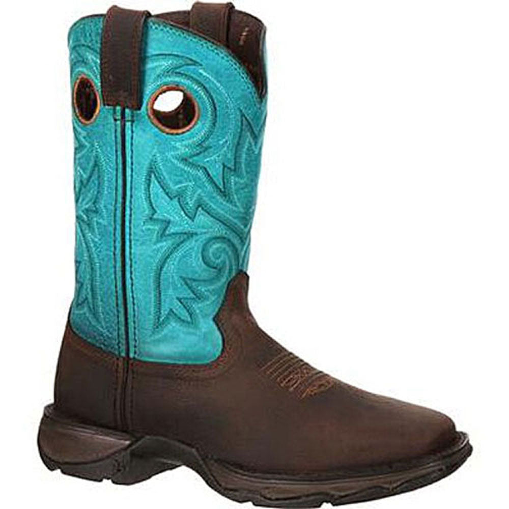 DWRD016 Durango Lady Rebel Women's Bar None Western Boot Brown Turquoise