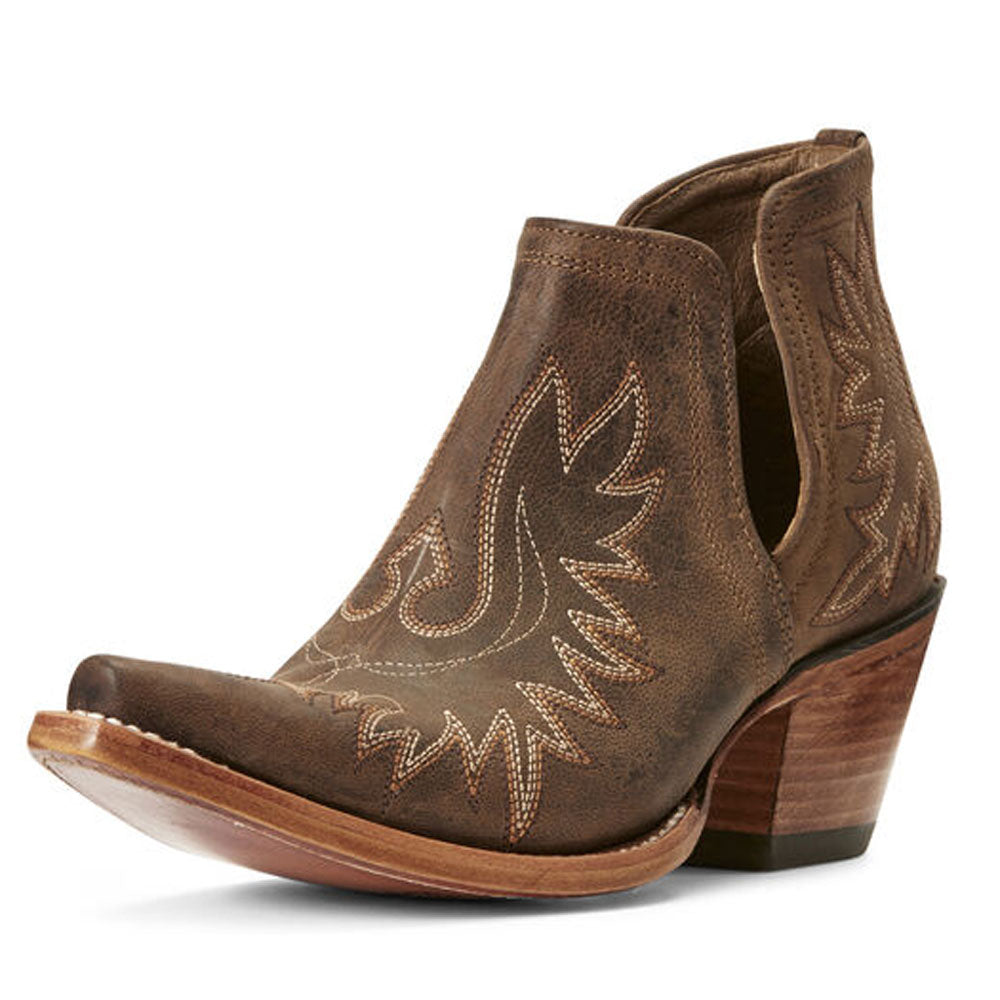 10027282 Ariat Women's Dixon Short Western Boot Weathered Brown
