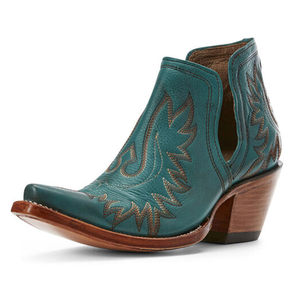 10027280 Ariat Women's Dixon Short Western Boot Agate Green