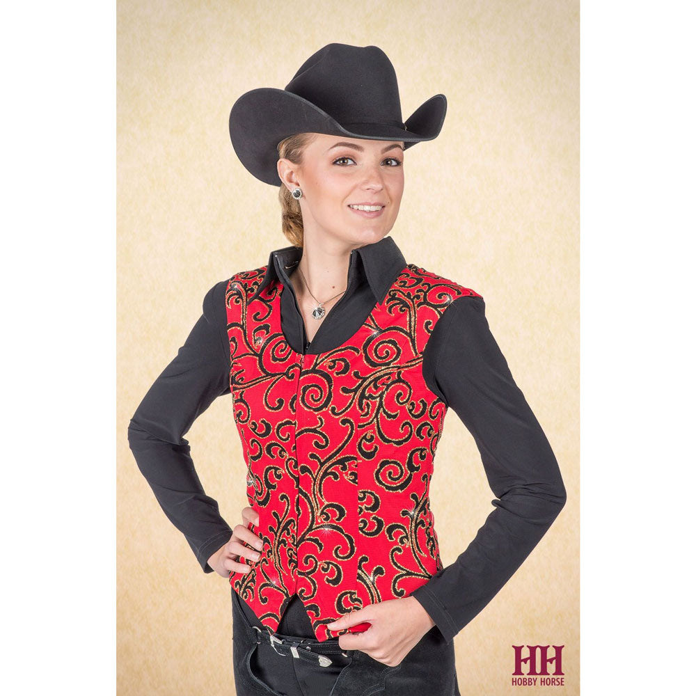 2709-009 Hobby Horse Ladies Ravell Horse Show Vest - Red