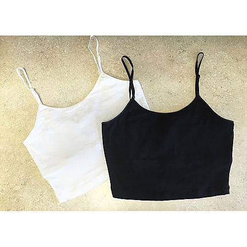 J7-3161 Panhandle Slim Juniors Short Knit Cami Crop Top