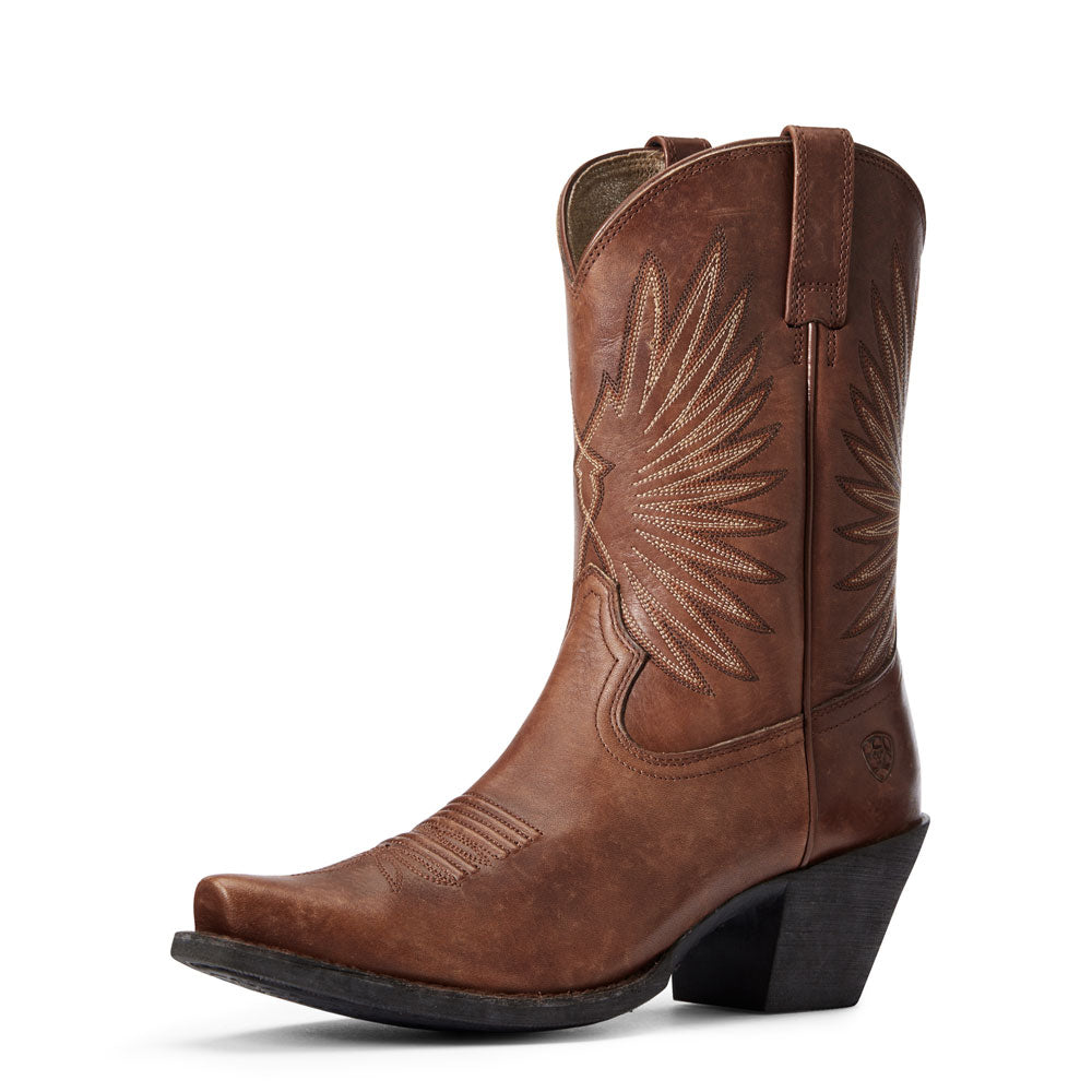 10033886 Ariat Women's Naturally Distressed Cognac Goldie Boot Brown