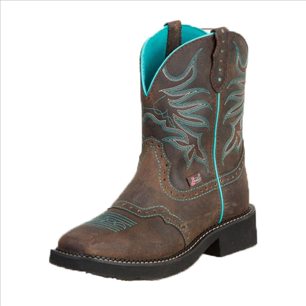 L9624 Justin Women's Chocolate Puma Western Cowgirl Boot