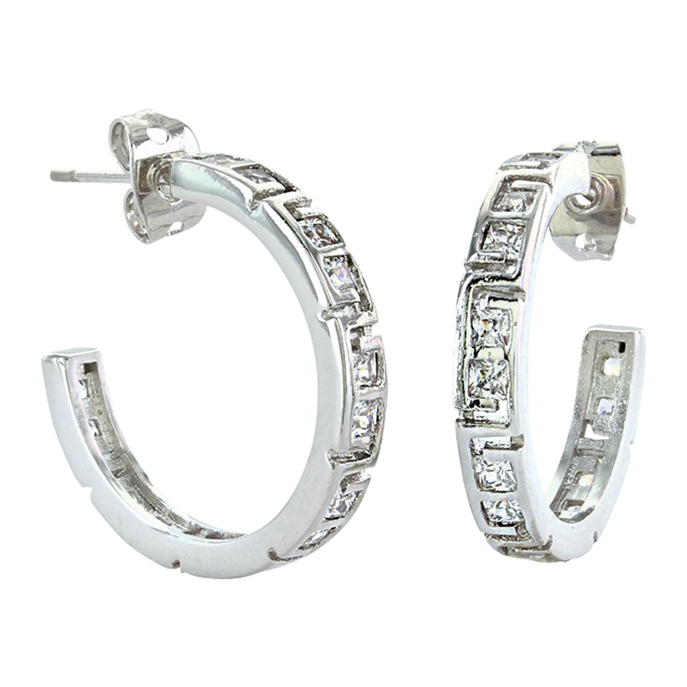 ER3240 Montana Silversmiths Dainty Aztec and Rhinestone Earrings