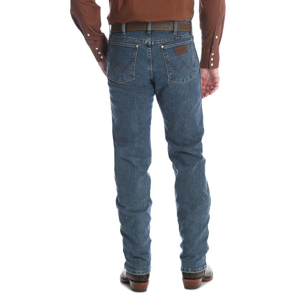 47MAVVS Wrangler Men's Regular Fit Premium Performance Cowboy Cut Jean Vintage Stone