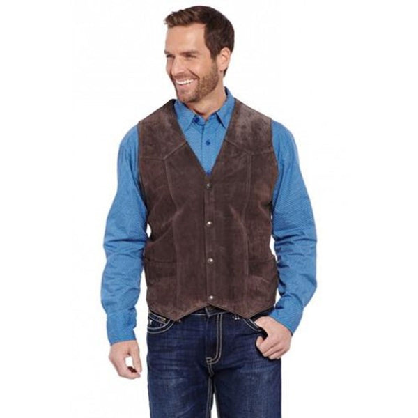 ML3061 Cripple Creek Men's Suede Western Vest