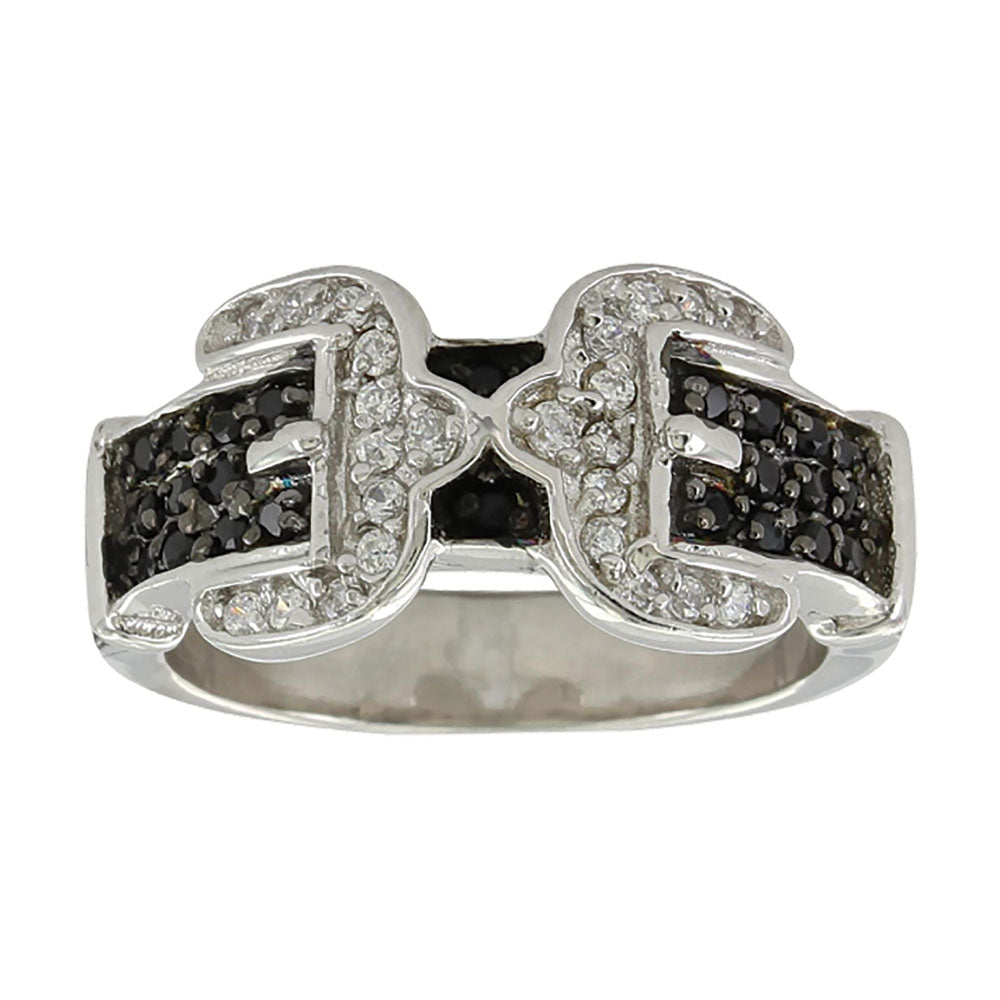 RG3569BK  Montana Silversmiths Double Buckle Ring