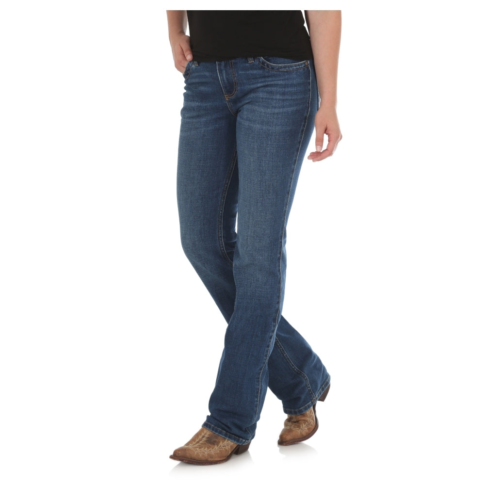 WRQ20GH Wrangler Women's Q-Baby Ultimate Riding Jean - Gold Hill