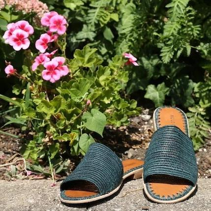 Raffia Slide (Forest) - Sample Sale!