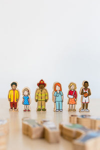 The Wooden Village People - 42pcs
