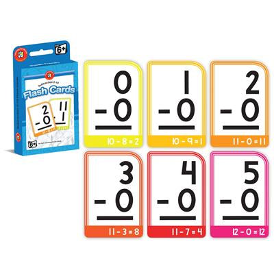 Subtraction 0-15 Flash Cards