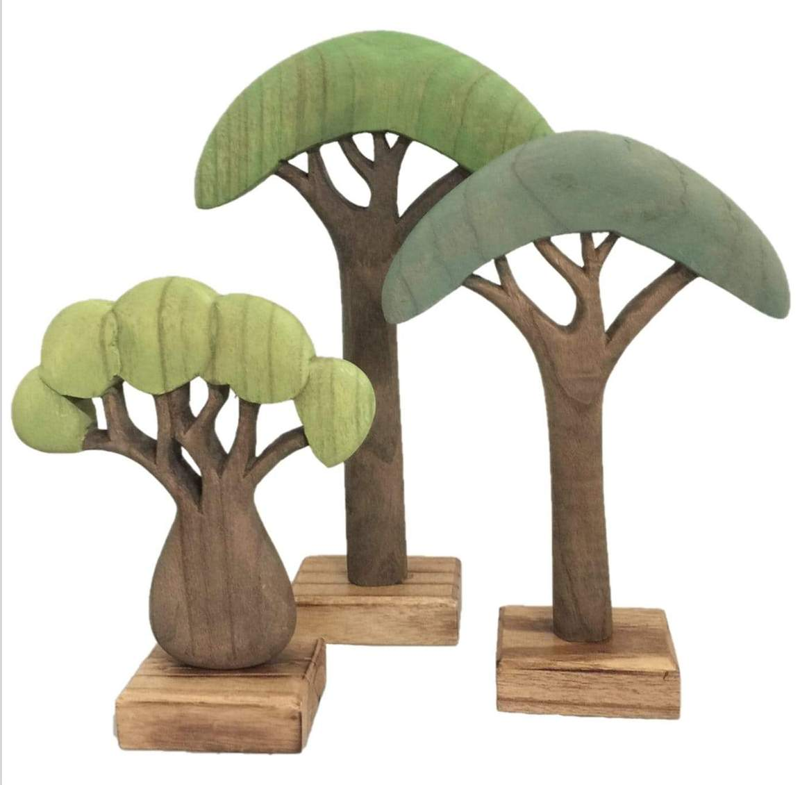 African Trees Coloured/3pc