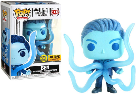 Funko Pop! 933 - FUNKO THE UMBRELLA ACADEMY POP! TELEVISION BEN GLOW-IN-THE-DARK VINYL FIGURE HOT TOPIC EXCLUSIVE