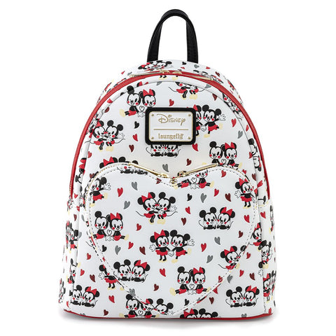 Disney Mickey & Minnie Mouse Love Heart Aop Mini Backpack