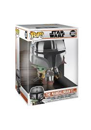 Funko Pop! 380 - Star Wars: The Mandalorian Chrome 10-Inch Pop! Vinyl Figure