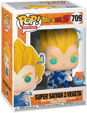 Funko Pop! 709 -  Dragon Ball Super Saiyan 2 Vegeta [Previews Exclusive]