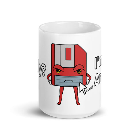 I'm Not an Icon Red Floppy Mug