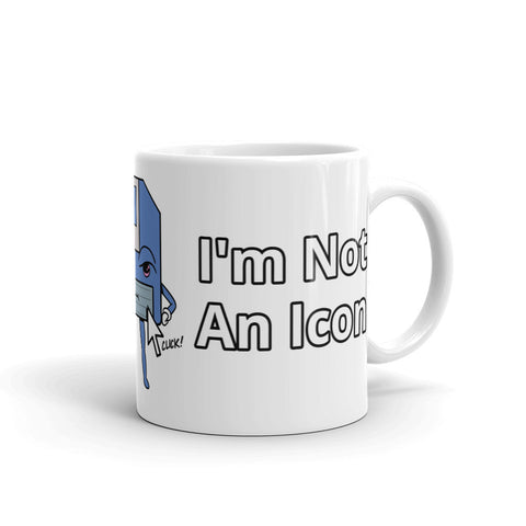 I'm Not an Icon Blue Floppy Mug