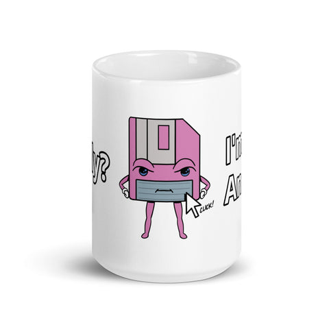 I'm Not an Icon Pink Floppy Mug