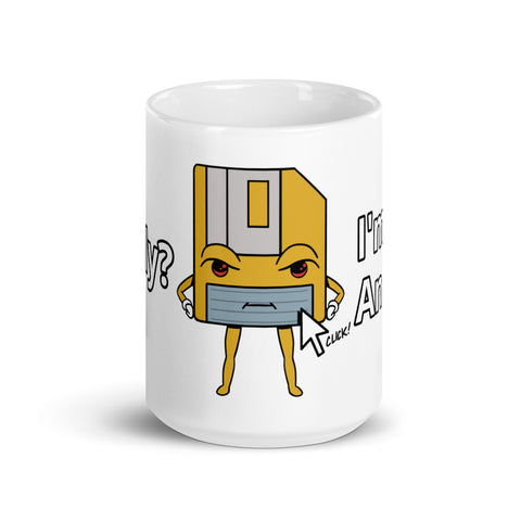 I'm Not an Icon Yellow Floppy Mug