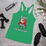 I'm Not an Icon Red Floppy Women's Racerback Tank