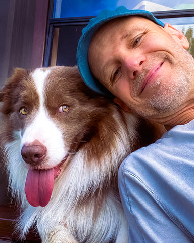 Dr. Peter Dobias and his dog Pax