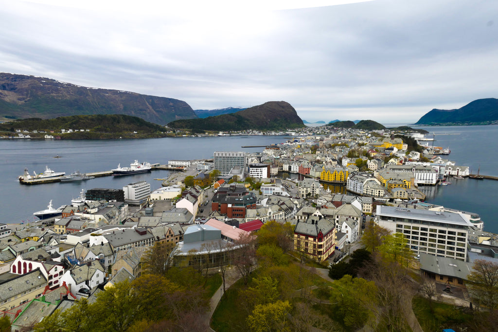 Image of a coastal city in Norway