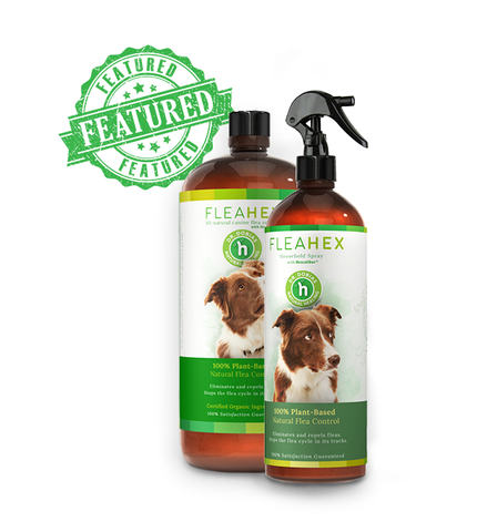 FleaHex Step 1 + 2 - All natural flea control for dogs