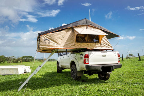 "Guana Equipment Wanaka 55"" Roof Top Tent on Toyota Hilux"