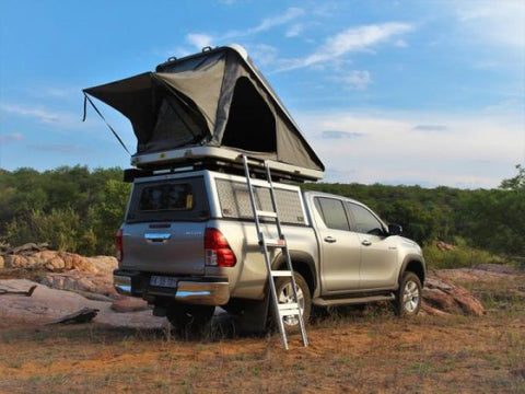 Hilux with Eezi Awn Stealth Roof Top Tent