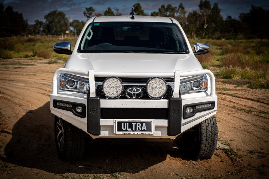 toyota Hilux with Ultra Vision Raptor 110W Driving Light