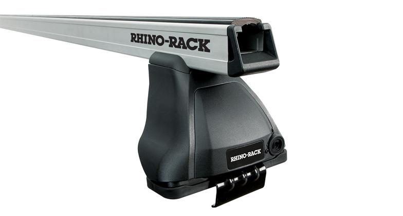 Rhino-Rack Heavy Duty 2500 2 Bar Roof Rack for 2 dr Toyota Tacoma Silver