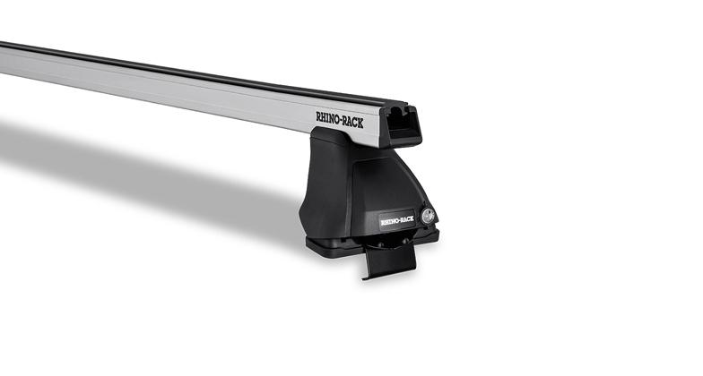 Heavy Duty 2500 Silver 2 Bar Roof Rack Cross Bars by Rhino Rack for Nissan Frontier and Suzuki Equator