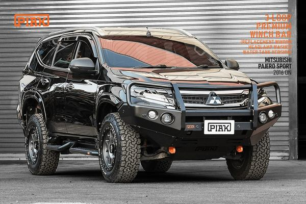 Piak 3 Loop ELITE Winch Bar For Mitsubishi Pajero Sport QE 2016-Current