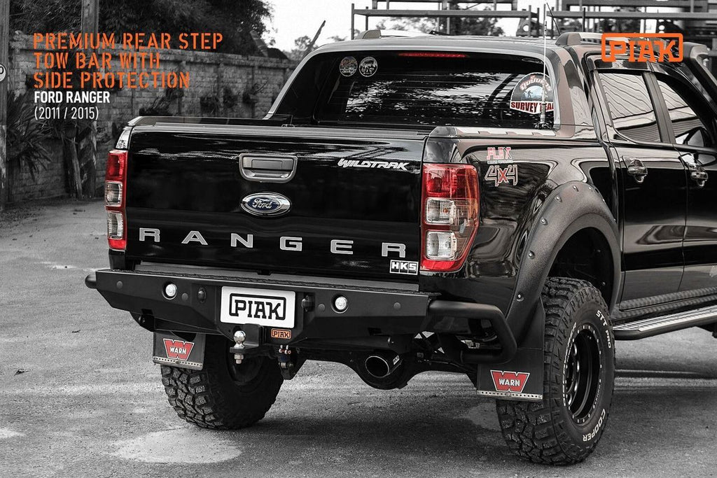 Piak Premium Rear Bar Step Tow For Ford Ranger 2011+