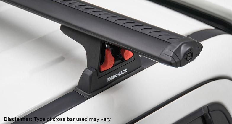 Rhino-Rack Heavy Duty RLT600 Ditch Mount Black or Silver 2 Bar Roof Rack