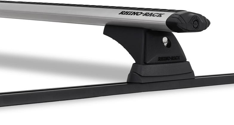 Rhino-Rack Vortex RCH Trackmount 2 Bar Roof Rack Silver