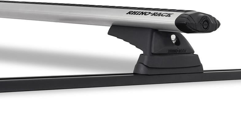 Rhino-Rack Vortex RCL Trackmount 2 Bar Roof Rack Silver