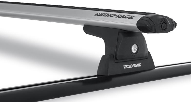 Rhino-Rack Vortex RLT600 Trackmount 2 Bar Roof Rack Silver