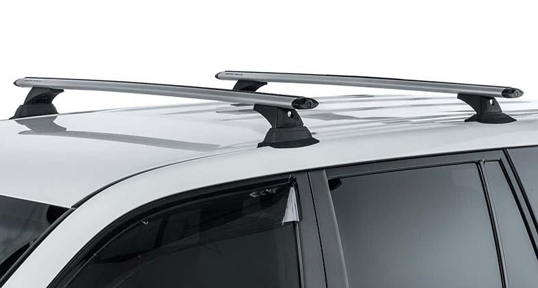 Vortex RCH 3 Bar Roof Rack by Rhino Rack Silver for Nissan Armada 2017 to 2019 and INFINITI QX80 2014 to 2019
