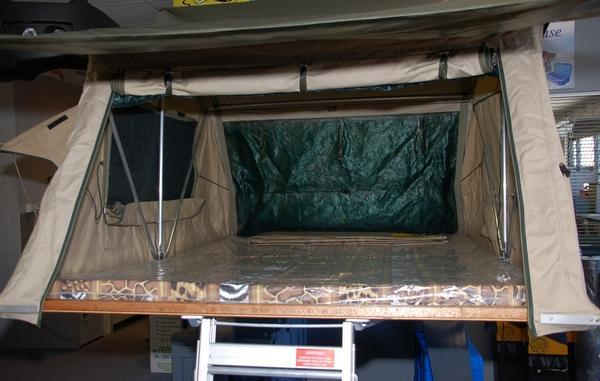 inside view of Series 3 Roof Top Tent - 5 Sizes Available - From 2 to 5 Person Capacity - by Eezi-Awn