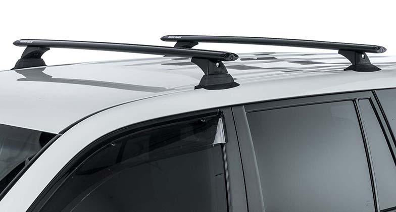 Vortex RCH 3 Bar Roof Rack by Rhino Rack Black for Nissan Armada 2017 to 2019 and INFINITI QX80 2014 to 2019