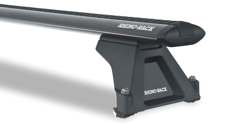 Rhino-Rack Vortex RLTF 2 Bar Roof Rack for Ford Escape and Nissan Pathfinder Cross Bars Black