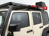 Side view Slimline II Roof Rack For Jeep Wrangler JKU 4 Door (2007-2018) - by Front Runner Outfitters