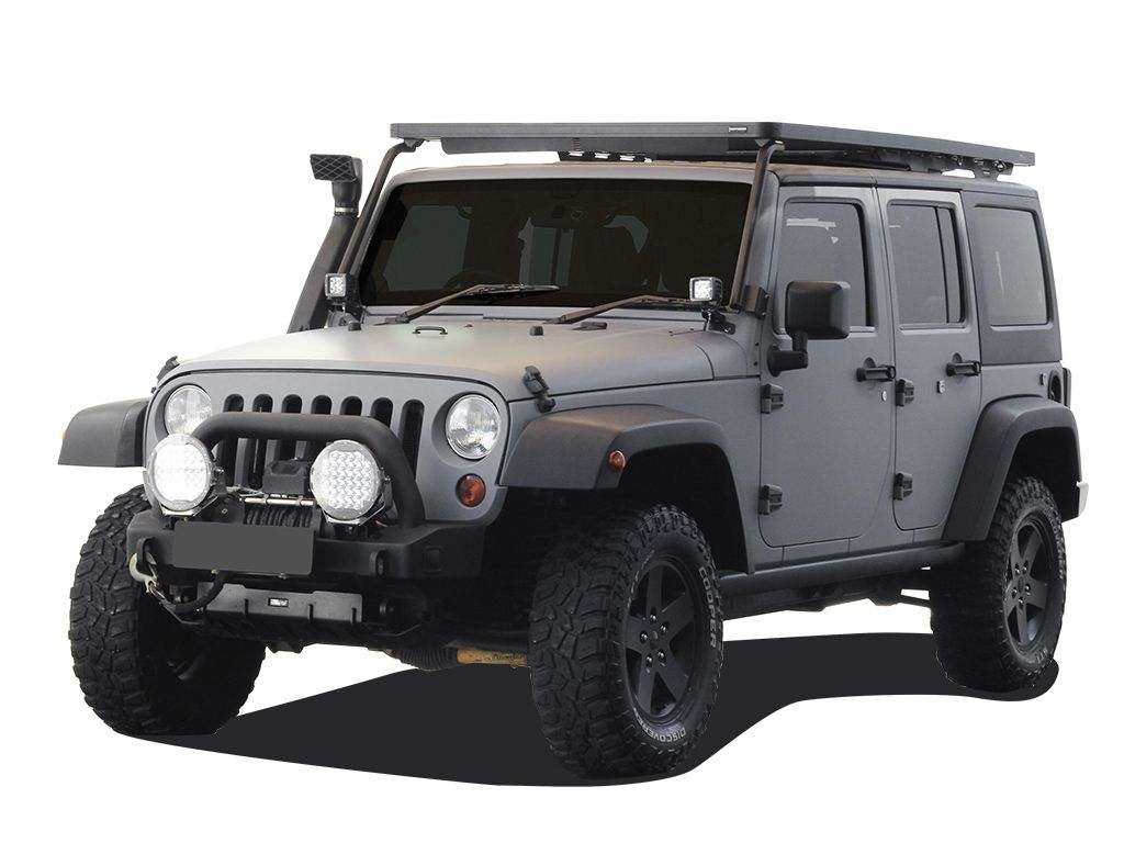 Profile view Slimline II Roof Rack For Jeep Wrangler JKU 4 Door (2007-2018) - by Front Runner Outfitters